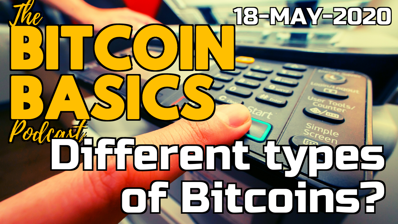 Bitcoin Basics Podcast - Different types of Bitcoins? (52)
