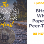 The Bitcoin Basics Podcast cover album artwork: Bitcoin White Paper: Part 1 Peer to Peer